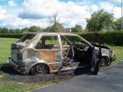Намериха опожарен автомобил в землището на с.Литаково