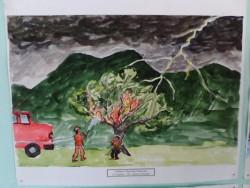 Постоянна изложба с рисунки на местните таланти