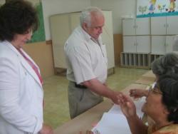 Кметът на Ботевград Георги Георгиев гласува в 9.30 часа