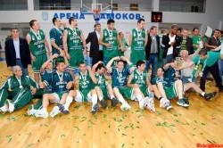 "Кметът изказа благодарност на баскетболния отбор ""Балкан"" за бронзовите медали"