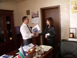 """Калина Димитрова днес бе областен управител  в инициативата """"Мениджър за един ден"""""""