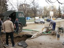 Градът е без вода от часове заради голяма авария