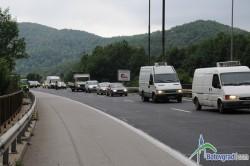 """Задръстване  на автомагистрала """"Хемус"""" при пътен възел Жерково поради ремонтни дейности"""