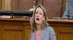 Златанова: ГЕРБ гласуваха за разваляне на договора за присъединяване към ЕС