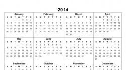 Почиваме 114 дни през 2014