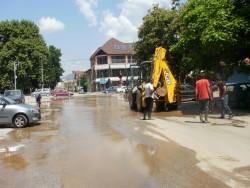 Отново голяма водопроводна авария пред болницата