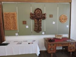 В музея е аранжирана изложба по дърворезба и дървопластика