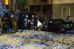 "Пламна лек автомобил, паркиран на бул. ""Трети март"""