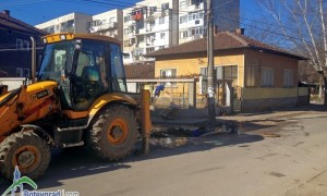 "Затруднено е движението по улица ""Боженишки урвич"" заради  В и К авария"