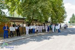 Представители на местния бизнес излязоха на протест срещу поскъпването на тока