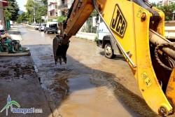 """Голяма водопроводна авария на ул. """"Княз Ал. Батенберг"""""""
