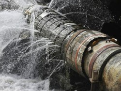 Авария на водопровода в Зелин