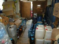370 литра контрабанден алкохол е иззет при операция на икономическа полиция при ОДМВР- София от склад в Ботевград