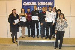 """Учебно-тренировъчна фирма на ПГТМ """"Христо Ботев""""се завърна с награди от международен панаир в Румъния"""