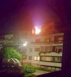 """Пожар в апартамент в кв. """"Васил Левски"""""""