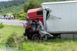 Челен удар между два камиона е станал на главен път Е-79 в района на  Новачене