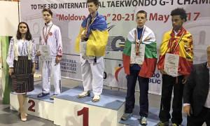 """Владимир Николов от СК """"Сунг - ри Ботевград"""" с медал от """"Молдова оупън 2017"""" G1"""