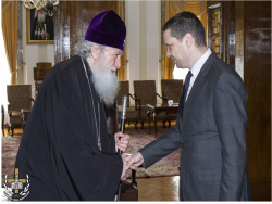 Патриарх Неофит прие новия областен управител на Софийска област – Илиан Тодоров