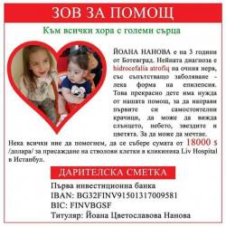 Фенове на Балкан молят за помощ за лечението на дъщеричката им