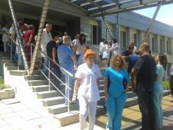 Лекари от Окръжна болница  на протест срещу насилието