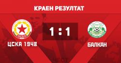 Балкан прави равен с ЦСКА 1948 в последната контрола