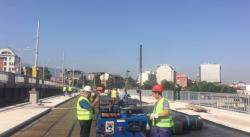 Фандъкова провери как върви реконструкцията на стария мост Чавдар