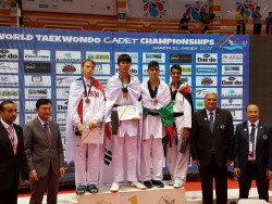 Кристиян Златев с медал от Световното първенство по таекуондо за кадети!