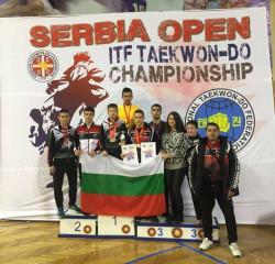 Таек-кион завоюваха 6 златни, 2 сребърни и 5 бронзови медала от Сърбия Оупън