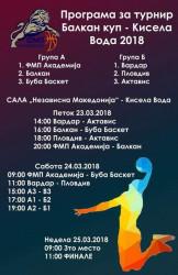 Скопие е домакин на третия турнир за Балканската купа