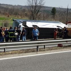 """Шест жертви при катастрофа на автобус на АМ """"Тракия"""""""