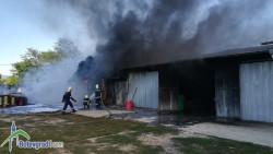 ОДМВР - София: Продължава разследването на пожара в складови помещения в Ботевград