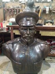 Вижте завършения бюст на генерал Павел Христов