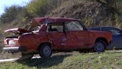 Възрастен шофьор пострада тежко при катастрофа