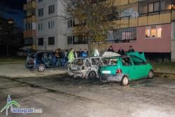 """Горяха три автомобила пред блок 12 в кв. """"Саранск"""""""