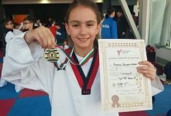 7 медала за Сунг Ри от държавния шампионат по олимпийско таекуондо