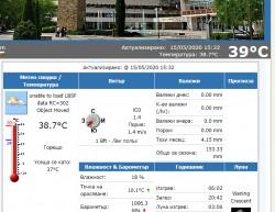 39°С достигна днес температурата в Ботевград