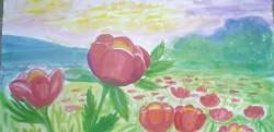 Традиционния конкурс за рисунка на диви божури събира участници от цялата страна