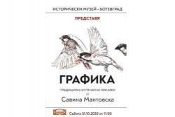 Художничката Савина Мантовска гостува с изложба на Исторически музeй - Ботевград