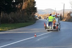 Полагат  пътна маркировка на Ботевград-Врачеш