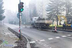 """Започна реконструкцията на южния тротоар на бул. """"България"""""""