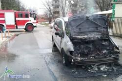 Автомобил се запали по време на движение