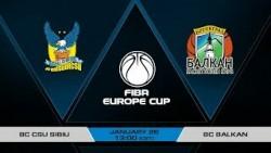 Гледайте Сибиу - Балкан за ФИБА Къп