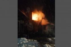 Изгоря къща в Липница, 7 човека останаха без покрив