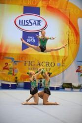 Злато и бронз за акробатките от международния турнир в София