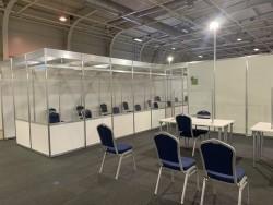 Областният управител на Софийска област направи оглед на залата, в която ще се обработват протоколите от вота