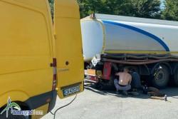 Цистерна с гориво аварира на Чуклето